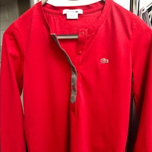 Red Lacoste Women's long sleeves polo